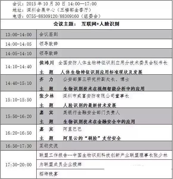 第二届中国生物识别技术创新应用论坛