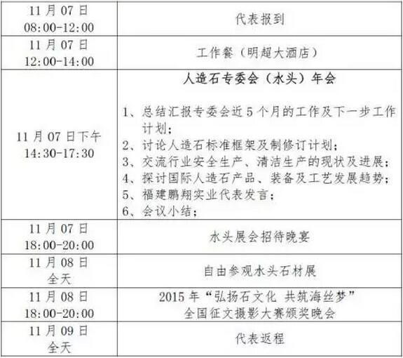中国石材协会人造石专业委员会(水头)年会