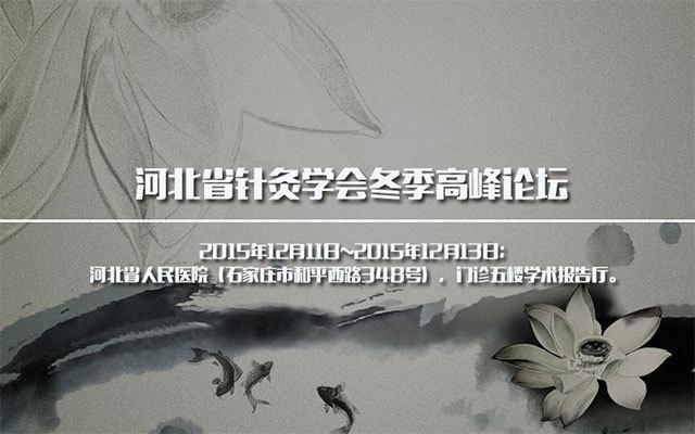 河北省针灸学会冬季高峰论坛