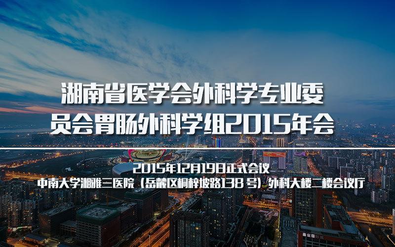 湖南省医学会外科学专业委员会胃肠外科学组2015年会