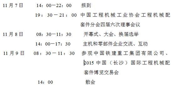 2015年中国工程机械配套件行业年会