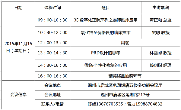温州口腔修复高峰论坛