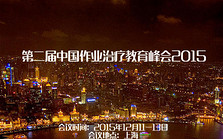 第二届中国作业治疗教育峰会2015