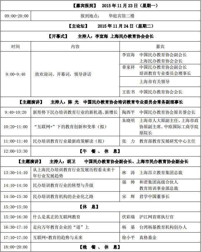 第五届中国民办培训教育行业发展高峰论坛