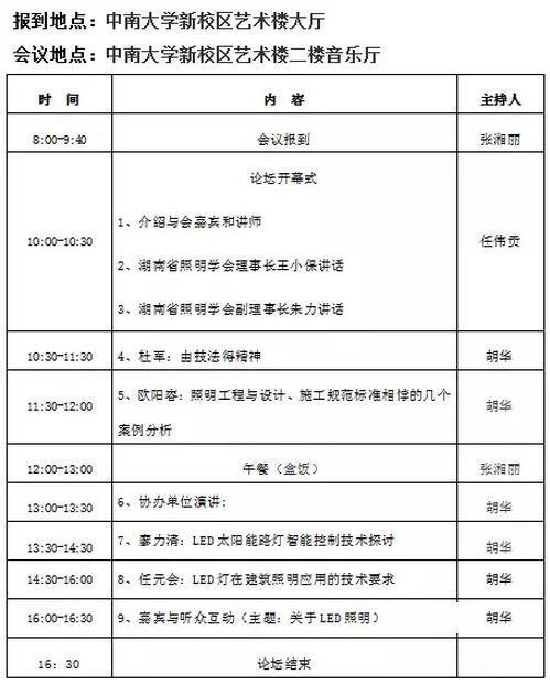 湖南省2015年第三届照明科技论坛