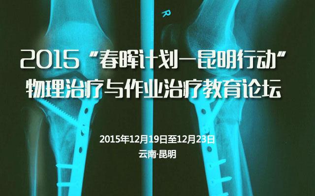 """2015""""春晖计划-昆明行动""""物理治疗与作业治疗教育论坛"""