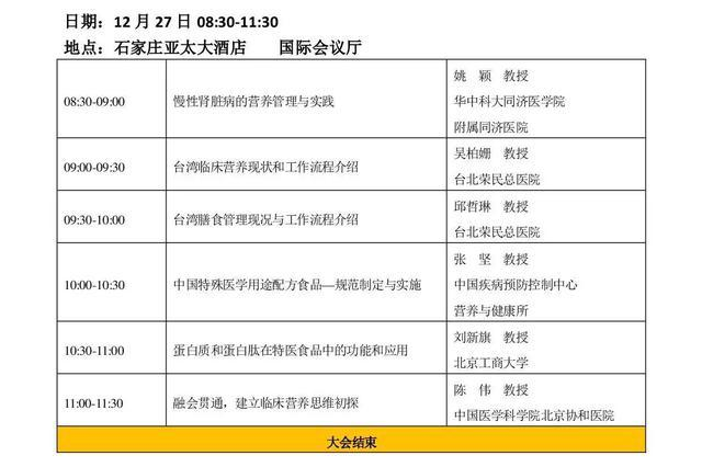 河北省第五届临床营养年会