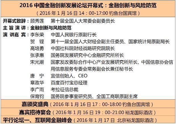 2016中国金融创新发展论坛