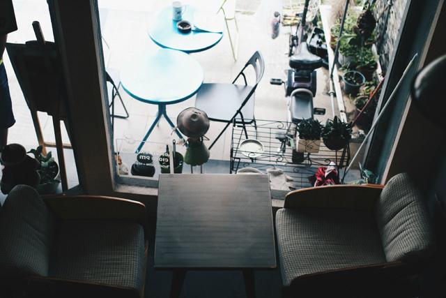 暖的咖啡馆