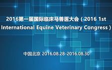 2016第一届国际临床马兽医大会(2016 1st International Equine Veterinary Congress)