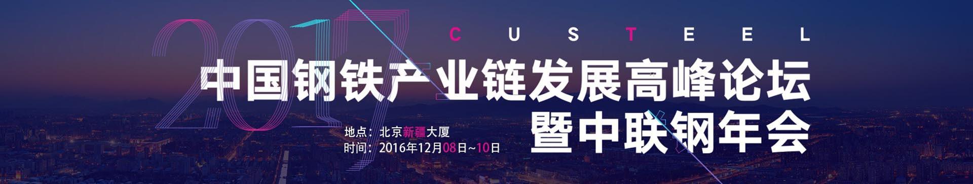 2017年中国钢铁产业链发展高峰论坛暨中联钢年会