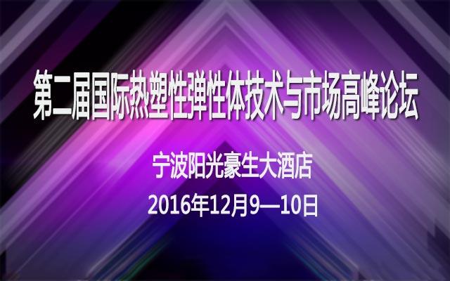 第二届国际热塑性弹性体技术与市场高峰论坛