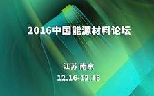 2016中国能源材料论坛
