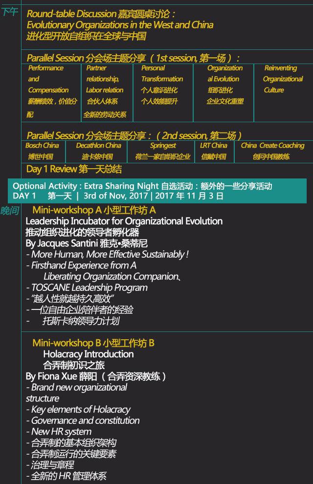 中国首届组织进化年会