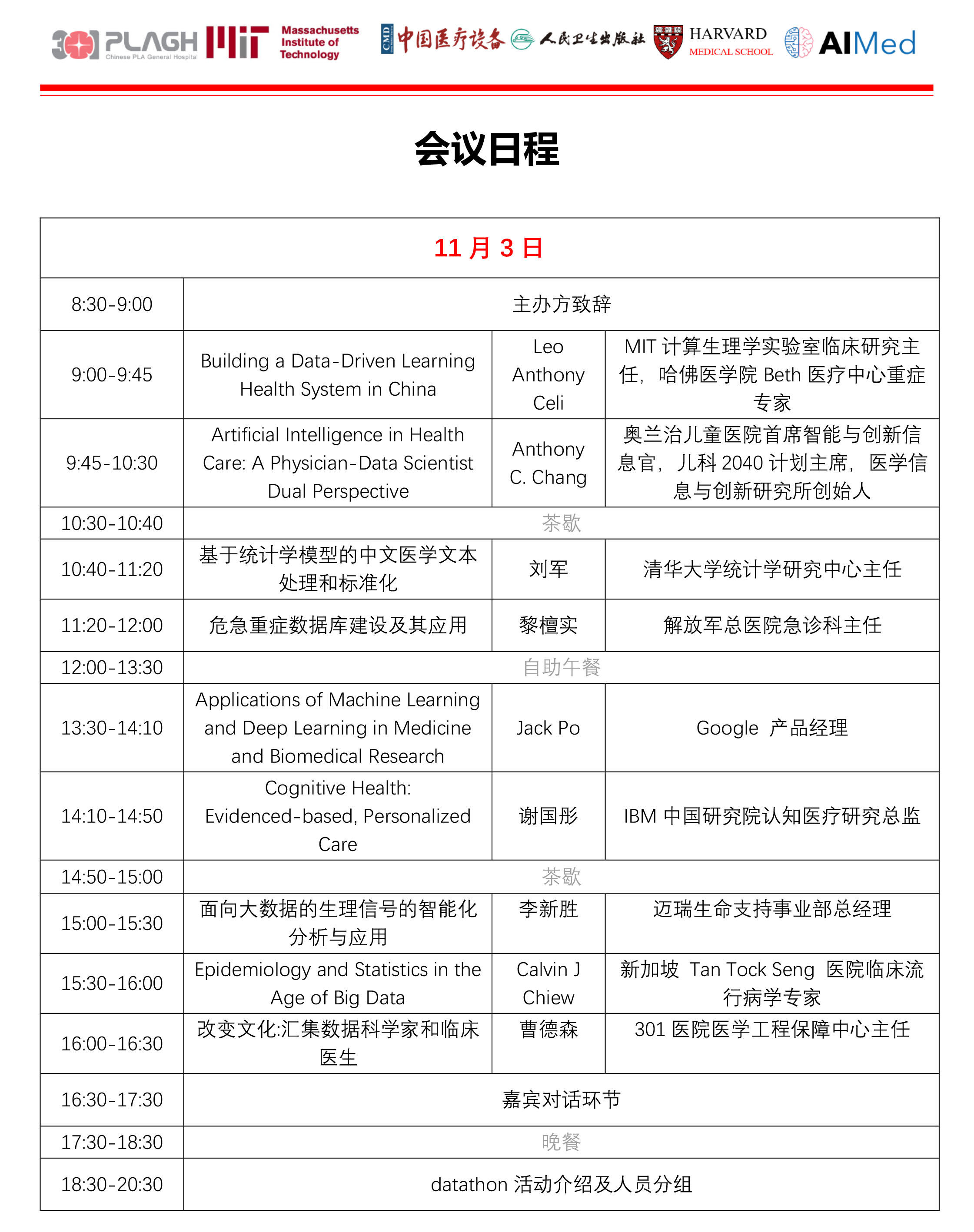 2017解放军总医院-麻省理工学院医疗大数据交流研讨会