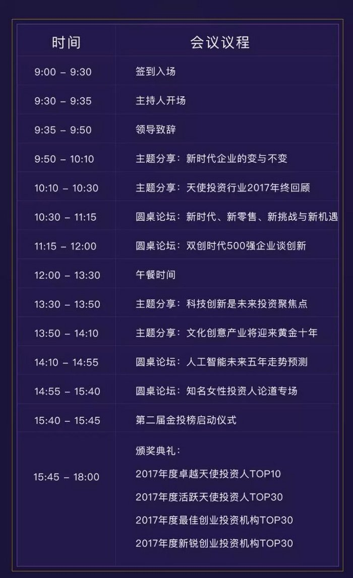 2017年中国天使投资峰会暨第二届金投榜颁奖盛典