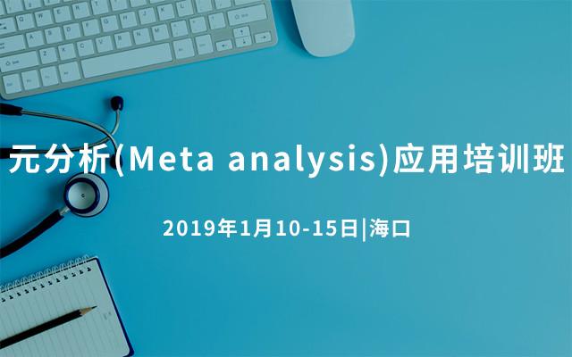 元分析(Meta analysis)应用培训班2019(海口)