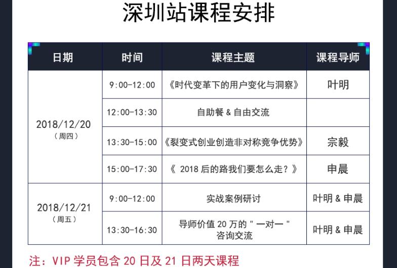 2018年 IP Talk大课 品牌价值洞察者—深圳站