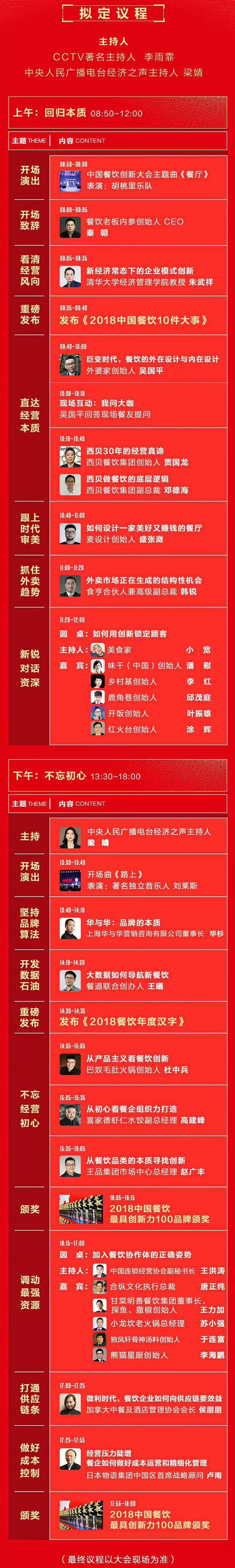 回归基本 · 中国餐饮创新大会-北京(2018冬季峰会)