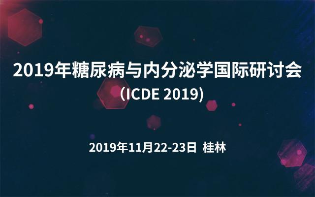2019年糖尿病与内分泌学国际研讨会(ICDE 2019)