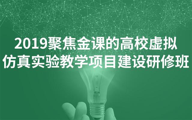 2019聚焦金课的高校虚拟仿真实验教学项目建设研修班(6月西安班)