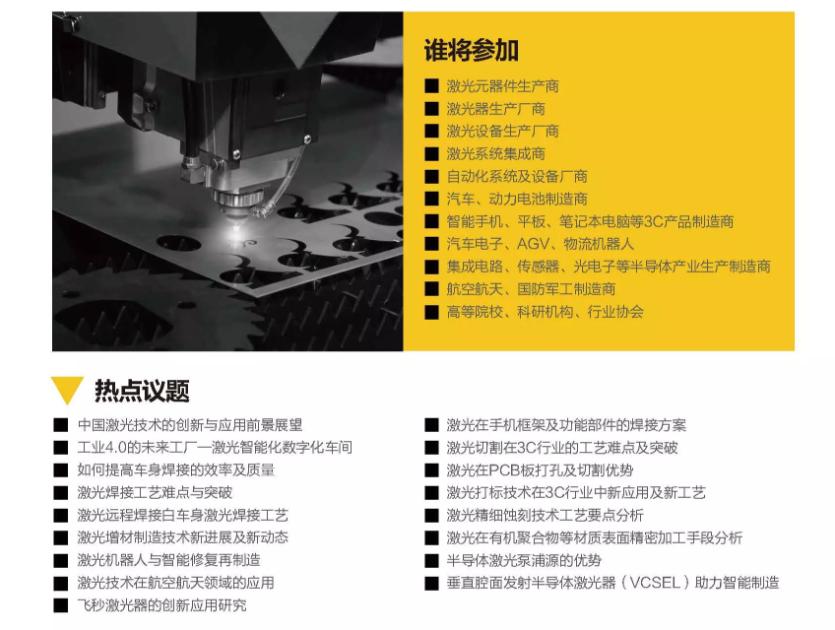 2019全球激光加工技术峰会(上海)