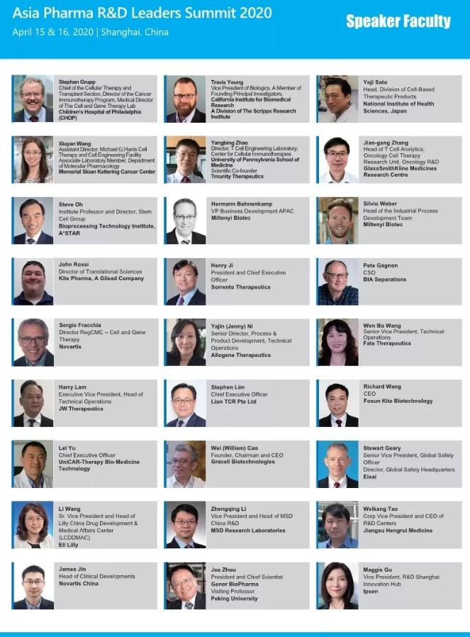 亞太藥物研發領袖峰會2020