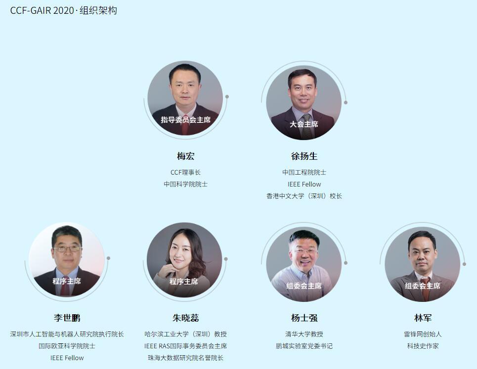 2020CCF-GAIR全球人工智能与机器人峰会(8月深圳)
