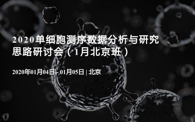 2020单细胞测序数据分析与研究思路研讨会(1月北京班)