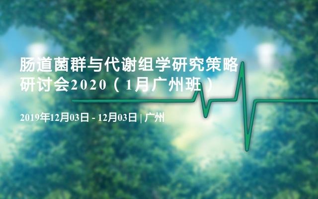 肠道菌群与代谢组学研究策略研讨会2020(1月广州班)