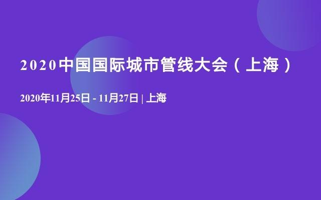 2020中国国际城市管线大会(上海)