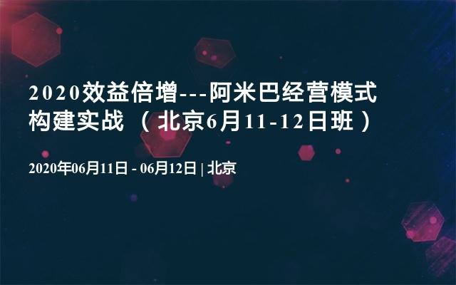 2020效益倍增---阿米巴经营模式构建实战 (北京6月11-12日班)