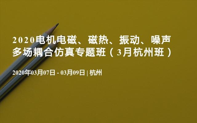 2020电机电磁、磁热、振动、噪声多场耦合仿真专题班(3月杭州班)