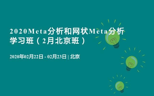 2020Meta分析和网状Meta分析学习班(2月北京班)