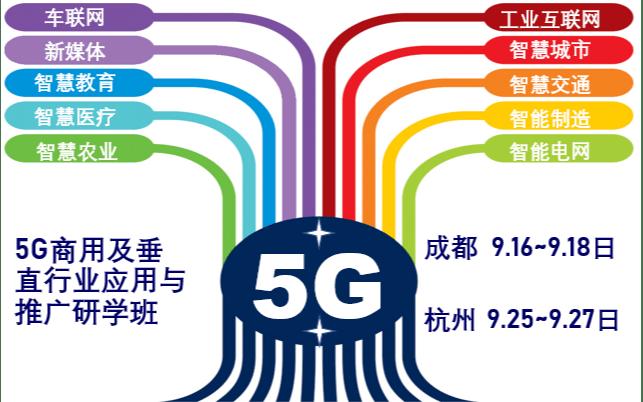 2019年5G商用及垂直行业应用与推广高级研学班(金秋9月成都)