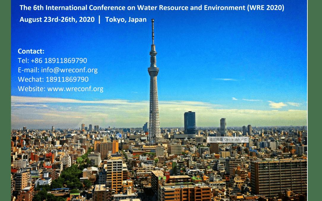 第六届水资源与环境国际会议 (WRE 2020)