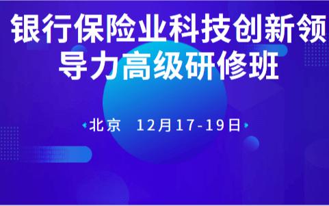2019银行保险业科技创新领导力高级研修班(12月北京班)
