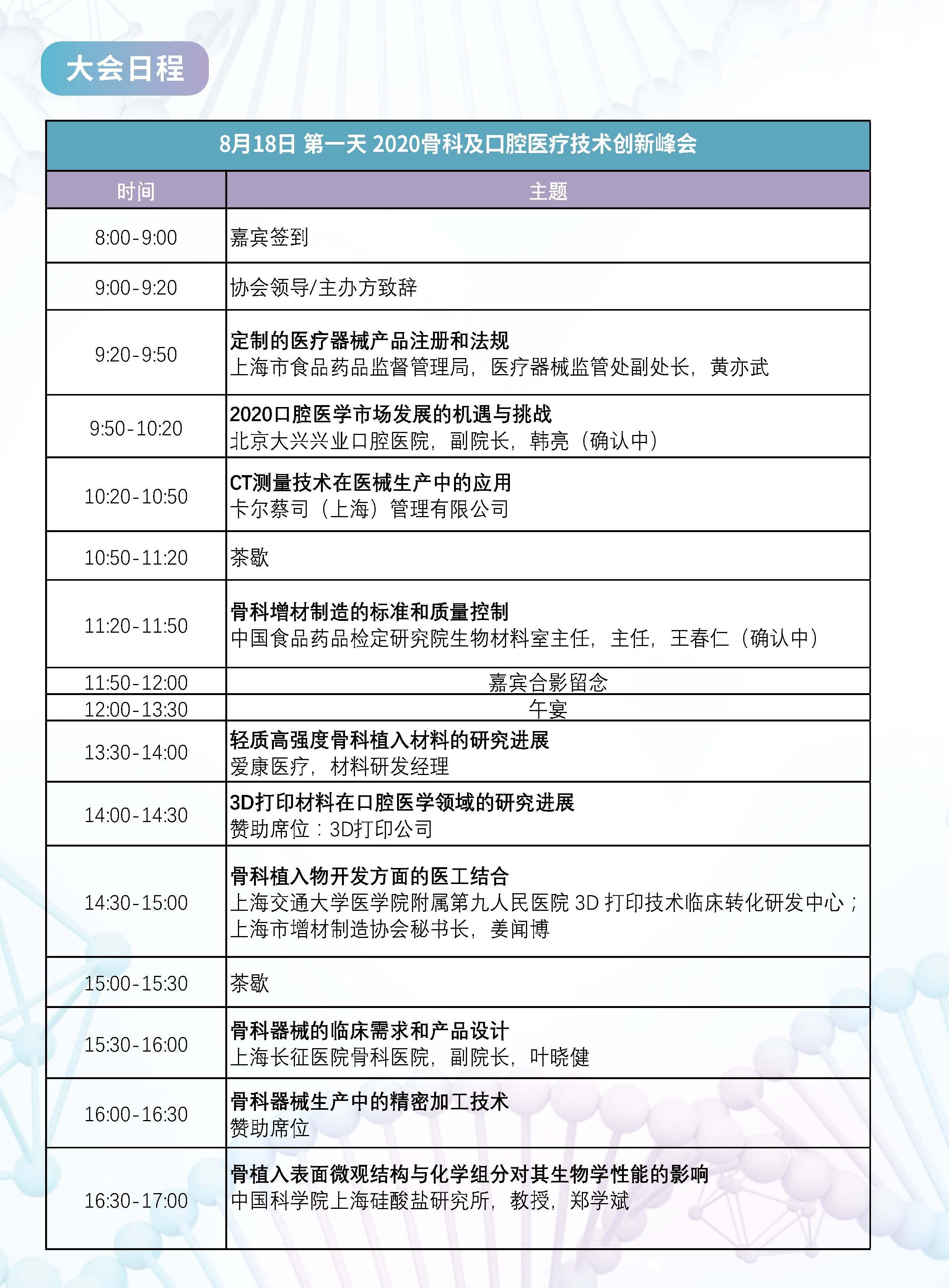 2020(第十届)植入介入医疗器械创新峰会