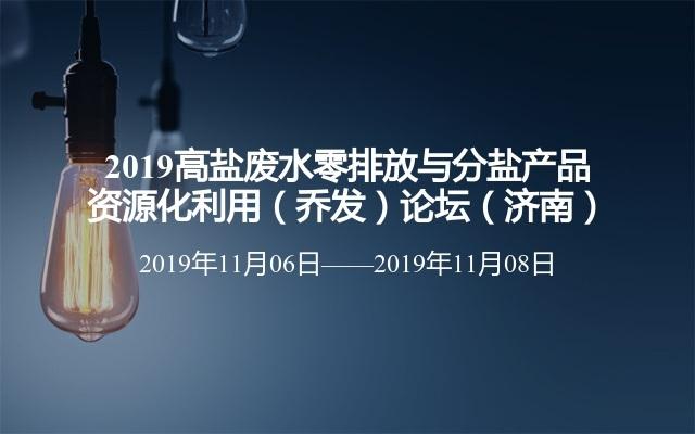 2019高盐废水零排放与分盐产品资源化利用(乔发)论坛(济南)