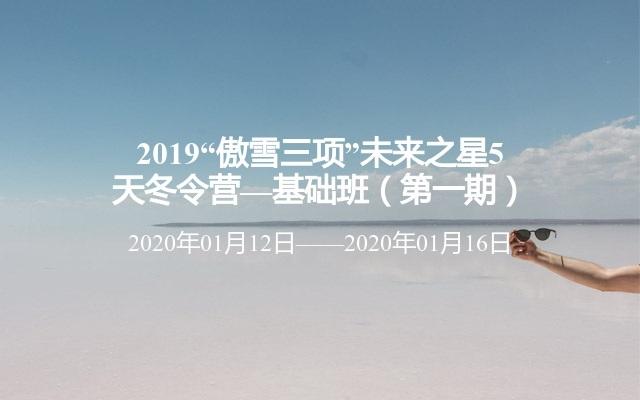 """2019""""傲雪三项""""未来之星5天冬令营—基础班(第一期)"""