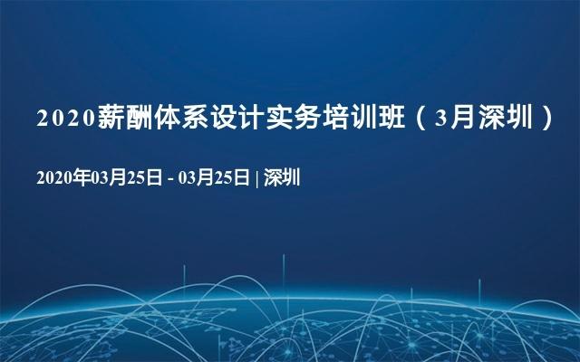 2020薪酬体系设计实务培训班(3月深圳)