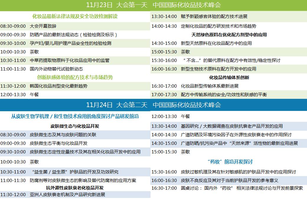 InnoCosme 2017中国国际化妆品技术峰会