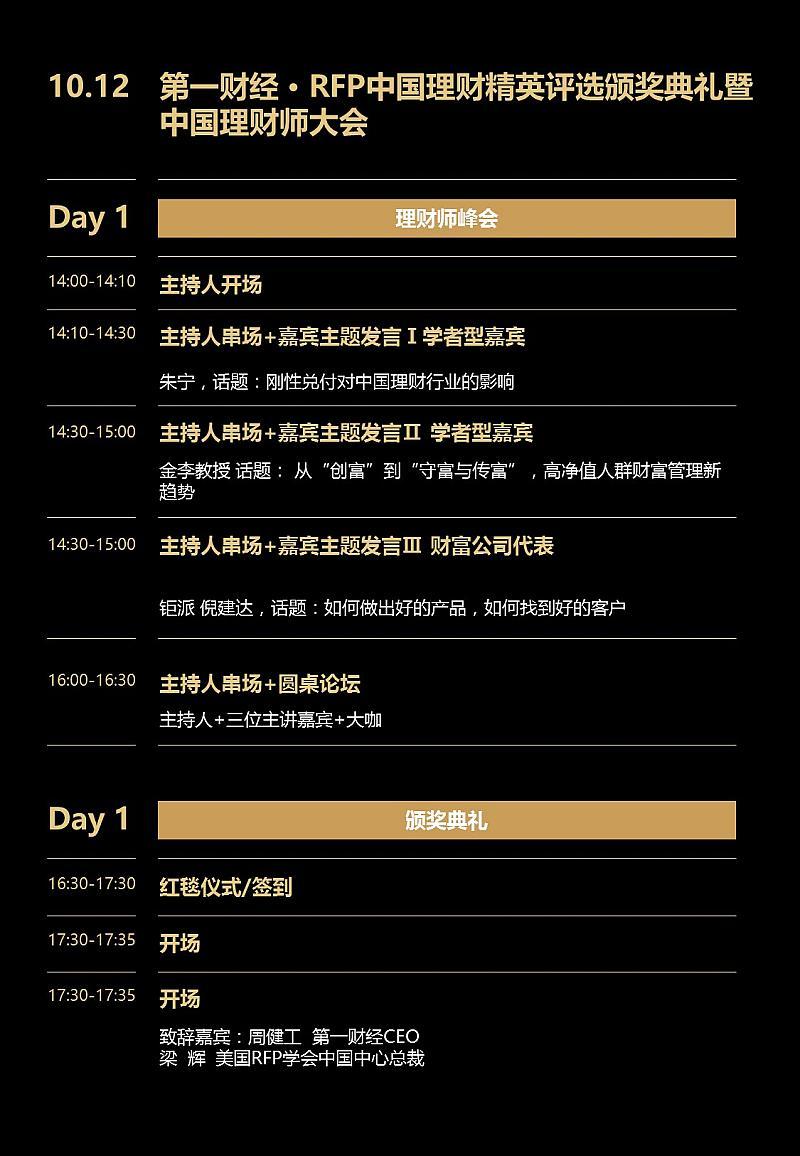 2017第一财经·RFP中国理财精英颁奖典礼暨中国理财师大会