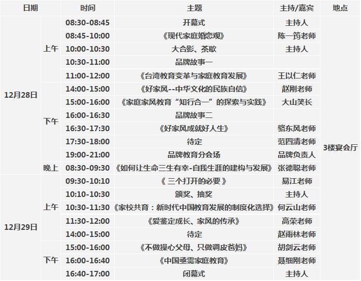 海峡两岸暨华南第三届家庭教育高峰论坛