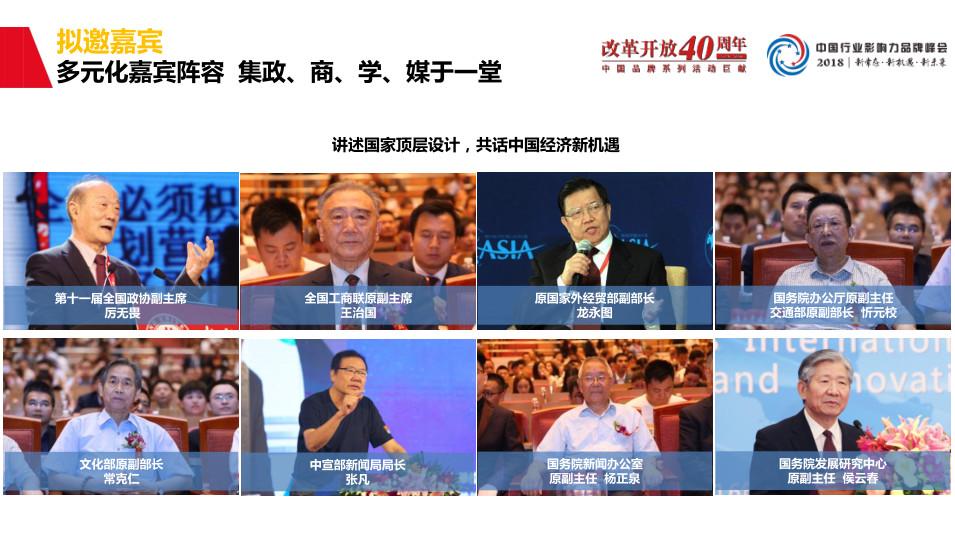 2018第五届中国行业影响力品牌峰会