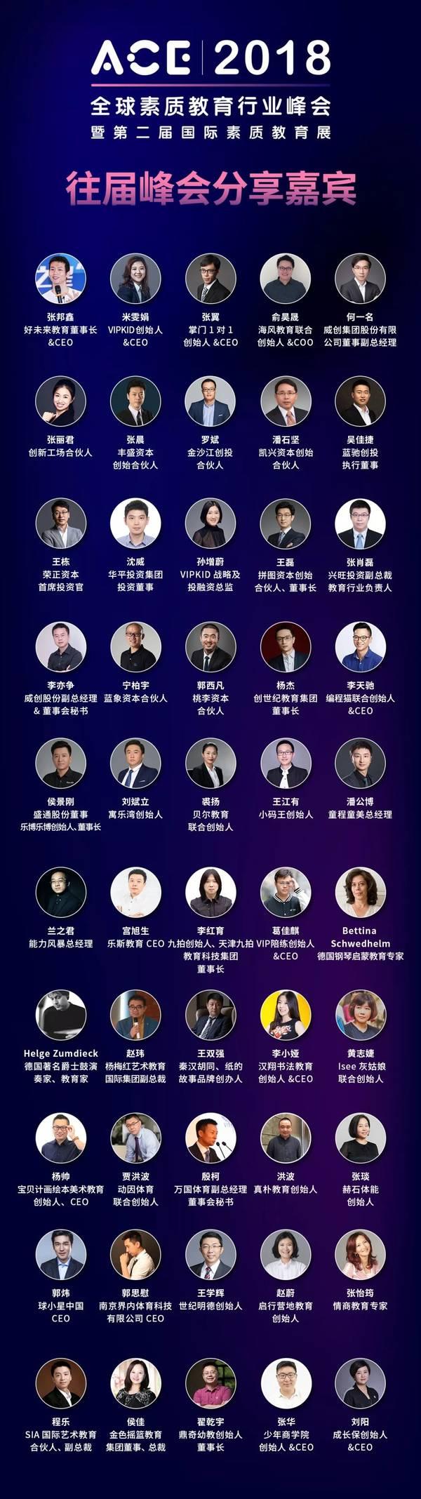 ACE 2018全球素质教育行业峰会