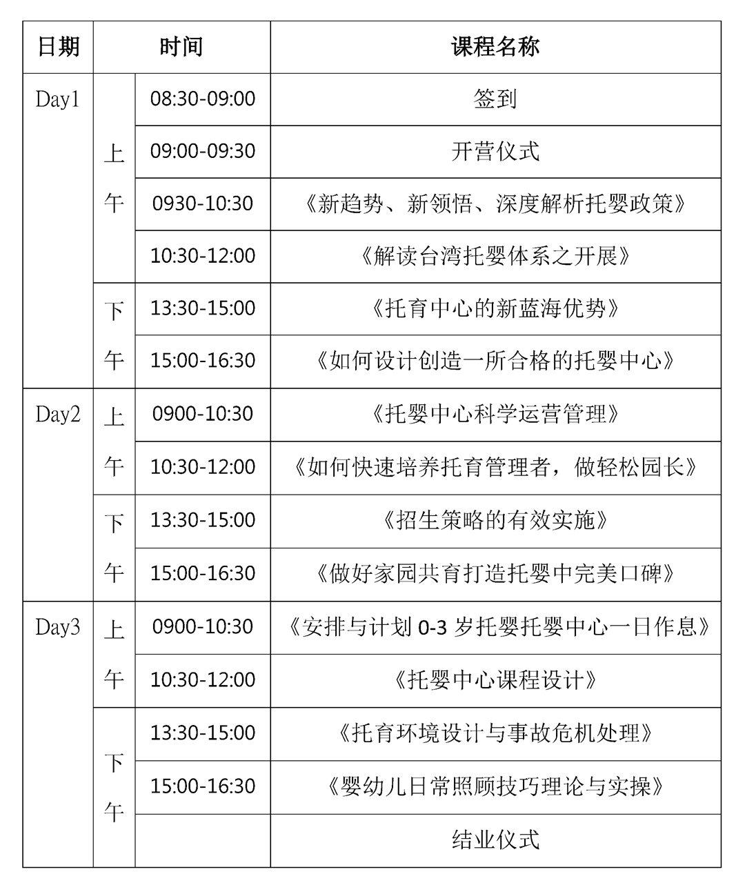 ICE台湾托婴(托育/全日托)落地培训2019(7月济南班)