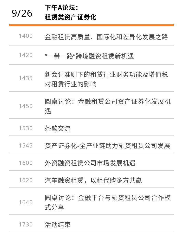 2019第五届结构性融资与资产证券化论坛(上海)