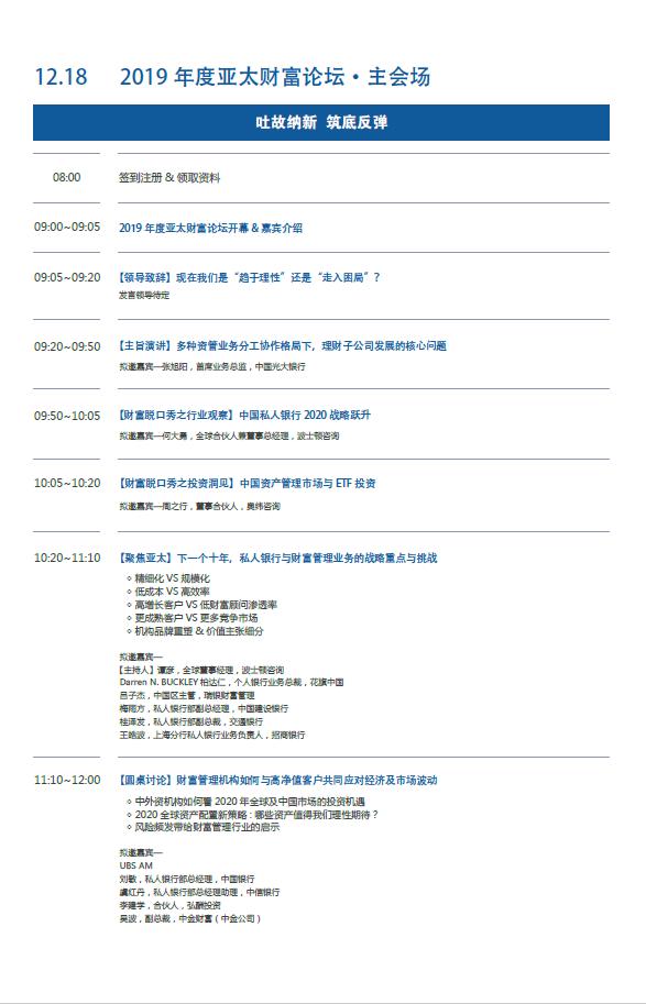 2019亚太财富论坛暨2019年度国际私人及家族财富管理中国风云榜