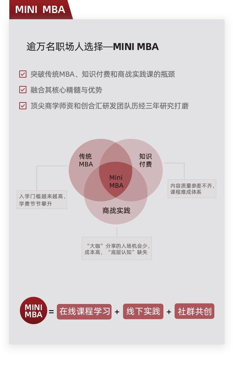 MINI MBA | 培养未来的管理精英,平台化时代的超越者2020